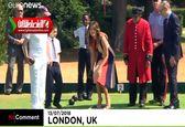 بازی ملانیا ترامپ در دیدار از بیمارستان سلطنتی انگلیس +فیلم