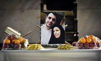 مراسم یادبود زوج شهید کشتی سانچی در رشت +تصاویر