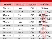 قیمت خودرو پراید در بازار تهران +جدول