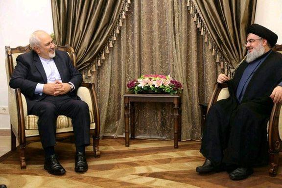 گفتوگوی ظریف با سید حسن نصرالله در بیروت