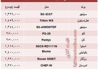 قیمت انواع اجاق گاز +جدول
