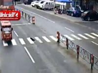 له شدن مردی توسط کامیون! +فیلم