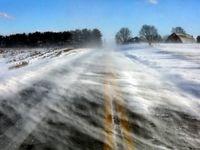 جاده یخ زده +عکس