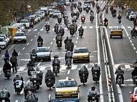تردد ۳ میلیون موتورسیکلت در تهران