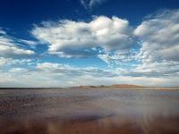 آبگیری کامل تالاب آق گل بعد از بیست سال +تصاویر