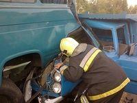 ۳۴ مصدوم و یک فوتی در حادثه برخورد چند خودرو در محور کرج-قزوین