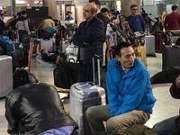سرگردانی اتباع خارجی در فرودگاه امام +عکس