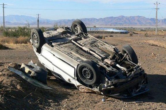 واژگونی خودرو در خاتم، یک کشته و چهار مصدوم برجا گذاشت