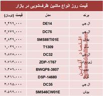 قیمت پرفروشترین ماشینهای ظرفشویی در بازار؟ +جدول
