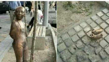 همزمان با روز کودک مجسمه کودک میدانونک بهسرقت رفت