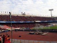 بلایی که باران سر ورزشگاه آزادی نونوار شده آورد! +عکس