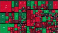 نقشه بازار سهام بر اساس ارزش معاملات/ افت همزمان شاخص کل و هم وزن در دقایق ابتدایی