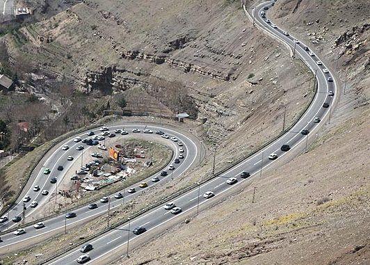 جاده هراز فردا شب مسدود میشود