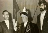 مرحوم هاشمی رفسنجانی در لباس قرقیزها +عکس