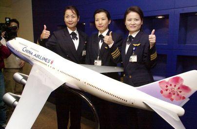 زنان خلبان شرکت هوایی Taiwan_s China Airlines