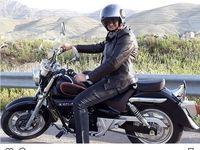 موتورسواری کمدین معروف +عکس