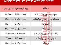 آپارتمانهای نوساز جنوب تهران چند؟ +جدول
