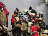 کشف پیکر دهمین شهید آتشنشان از زیر آوار پلاسکو
