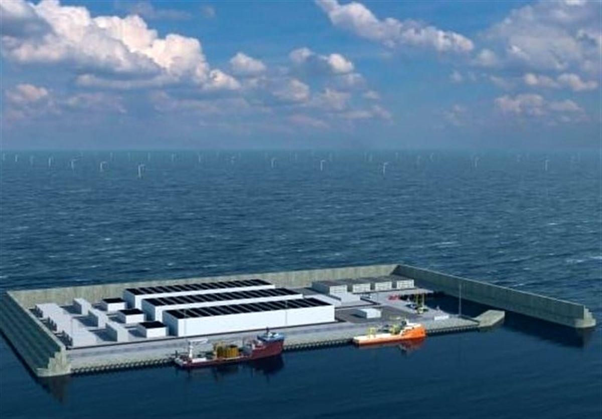 دانمارک جزیره مصنوعی تولید باد میسازد