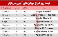 قیمت انواع موبایلهای آیفون در بازار؟ +جدول