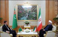تاکید روحانی بر گسترش همکاریهای ایران و ترکمنستان در بخشهای ترانزیت، انرژی و برق/ حمایت از حضور شرکتهای ایرانی در پروژههای ترکمنستان