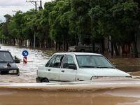 کرمان در آب باران غرق شد +تصاویر