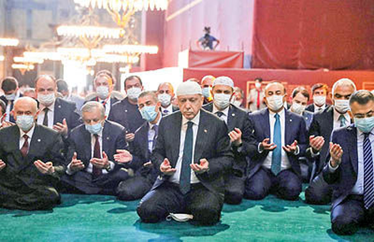 اولین نماز پساز۸۶ سال در ایاصوفیه