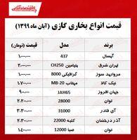 قیمت انواع بخاری گازی چند؟ +جدول
