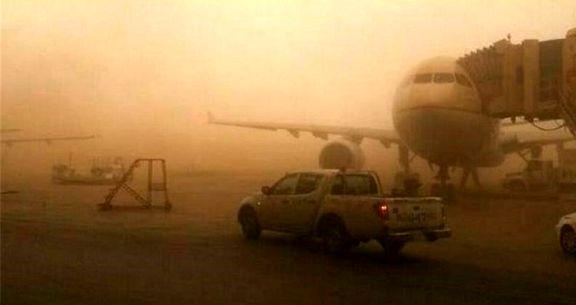 لغو 2 پرواز فرودگاه اهواز به خاطر گرد و خاک