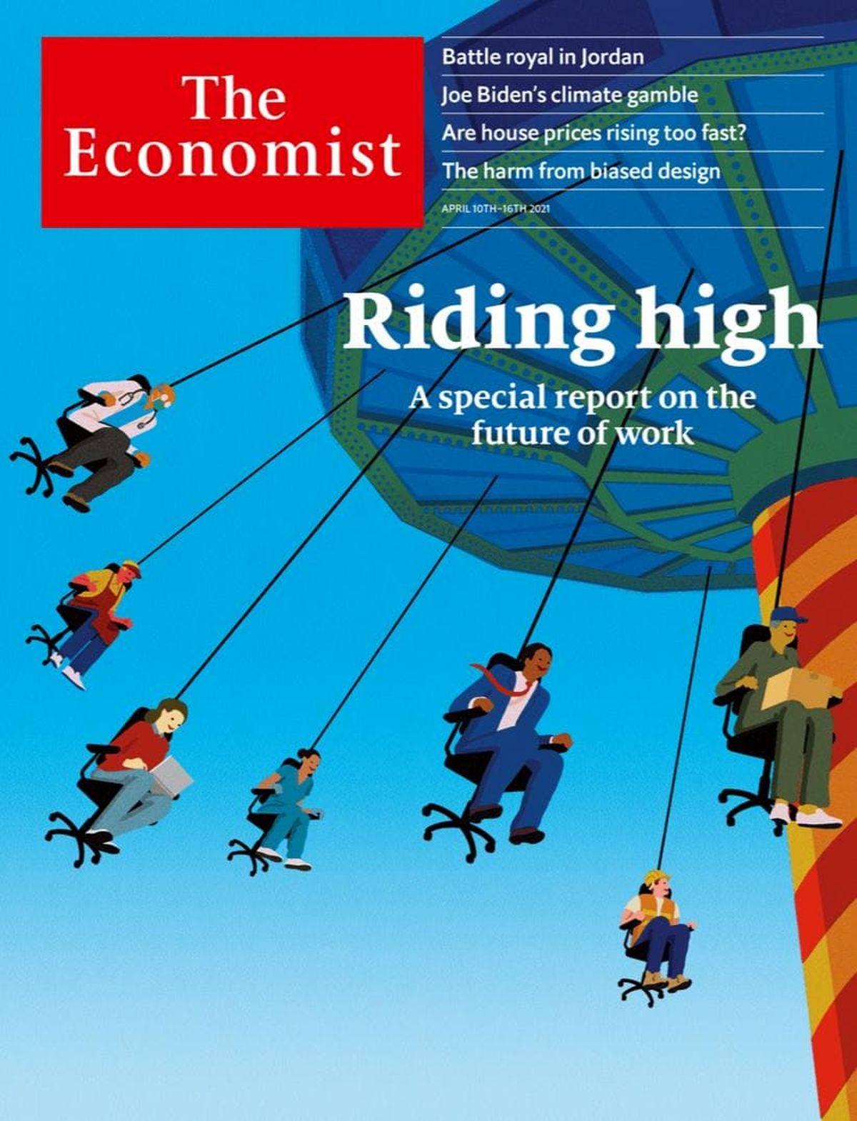 """""""تغییر ساختار بازار کار در اثر کرونا"""" روی جلد اکونومیست"""