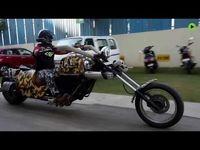 ساخت بزرگترین موتورسیکلت دنیا در هندوستان +فیلم