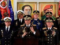نظامیان ونزوئلا به مادورو اعلام وفاداری کردند
