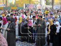 نماز مختلط زنان و مردان مصری +عکس