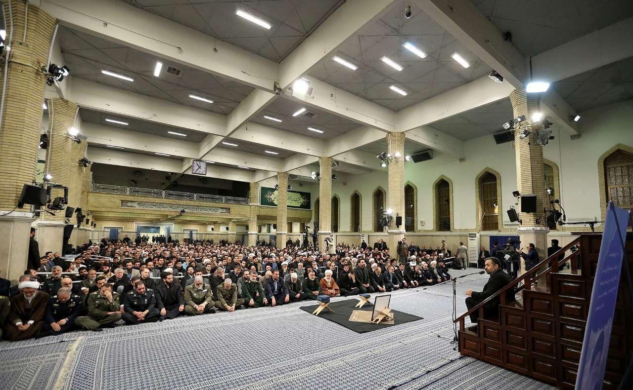 مراسم ترحیم آیت الله شاهرودی با حضور رهبر +عکس