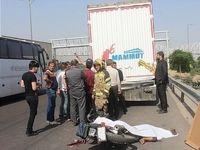 تصادف مرگبار موتورسیکلت با خاور +تصاویر