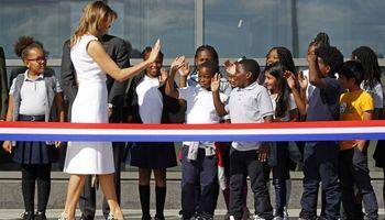 آبروریزی ملانیا ترامپ در افتتاح بنای یادبود واشنگتن +عکس