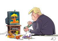 ترامپ برای حمله آماده شد!(کاریکاتور)