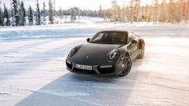 تیزر زمستانی خودروی پورشه +فیلم