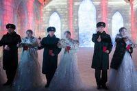 مراسم عروسی در یخبندان +تصاویر