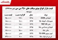 قیمت موتورهای ۲۵۰ سی سی بازار +جدول