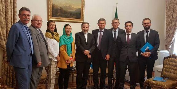 ملاقات هیات پارلمانی فرانسه با معاون وزیر خارجه ایران +عکس