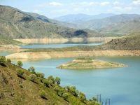 کاهش آب سد آزاد «بنیر» در کردستان +تصاویر