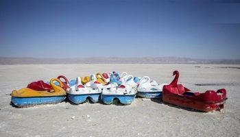 تصاویر رسانه چینی از دریاچه خشک شده استان فارس