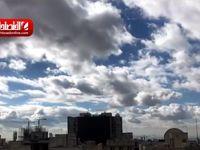 آسمان امروز تهران از دریچه دوربین اقتصادآنلاین +فیلم