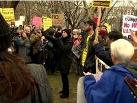 تظاهرات معترضین ضدجنگ در واشنگتن +فیلم