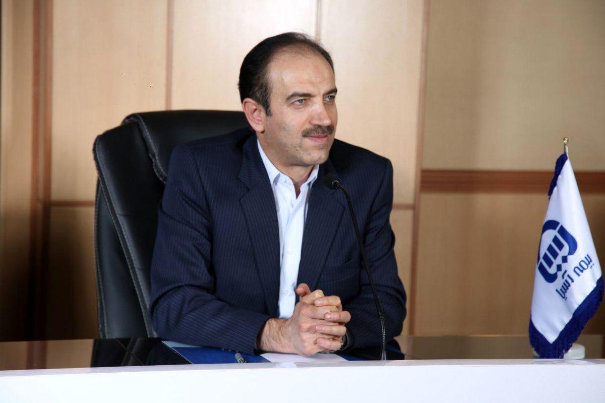 تبریک مدیر عامل بیمه آسیا به رئیس کل بیمه مرکزی