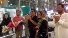 جعفر پناهی جایزه کن۲۰۱۸ را در ایران تحویل گرفت +فیلم