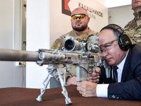 آزمایش جدیدترین تفنگ تک تیرانداز روسیه توسط پوتین +عکس