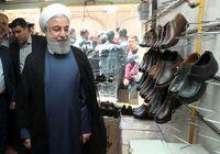 بازدید سرزده رییس جمهور از کارگاههای تولید کفش تبریز +فیلم