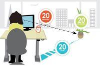 قانون ۲۰-۲۰-۲۰ چگونه از خستگی چشم جلوگیری می کند؟